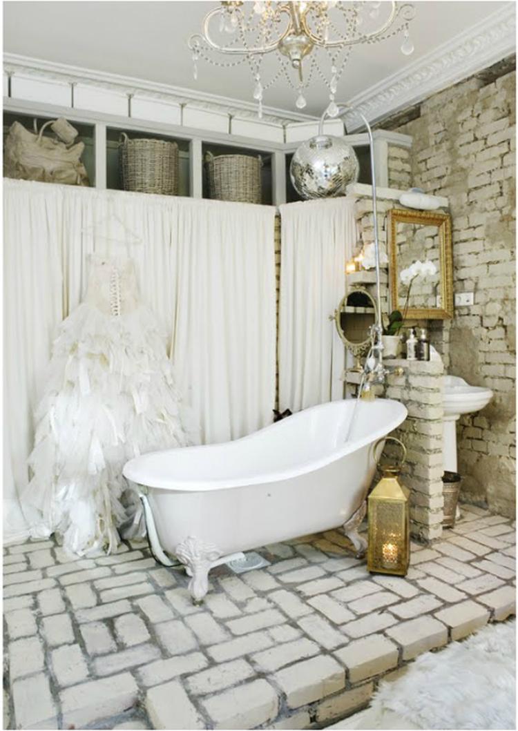 mooie scandinavische stijl badkamer! heel romantisch. Foto geplaatst ...