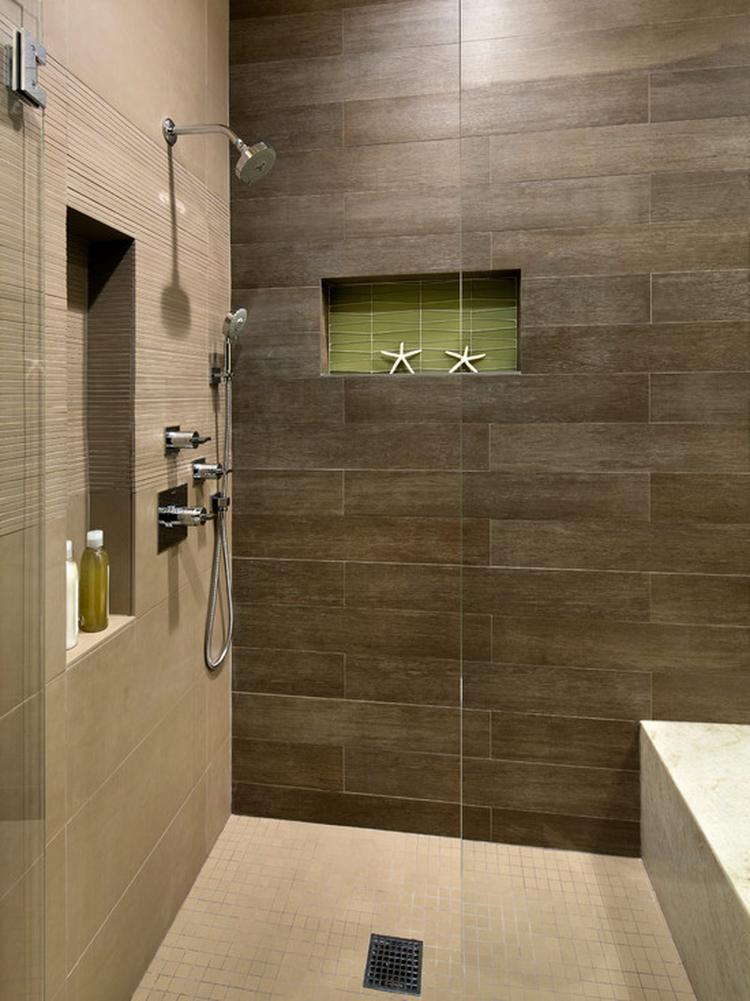 Hou van groen in de badkamer samen met taupe/ natuurlijke kleuren ...