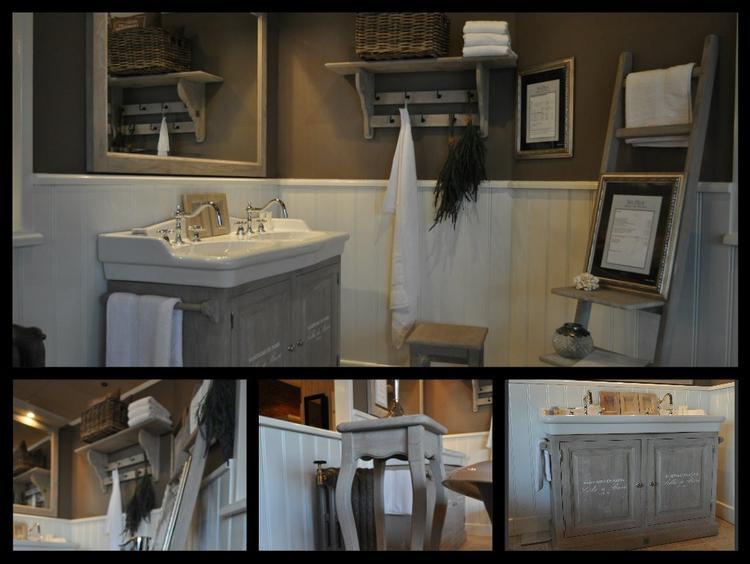 Oude Badkamer Accessoires : Landelijke badkamer meubelen en accessoires uit massief hout. in 42