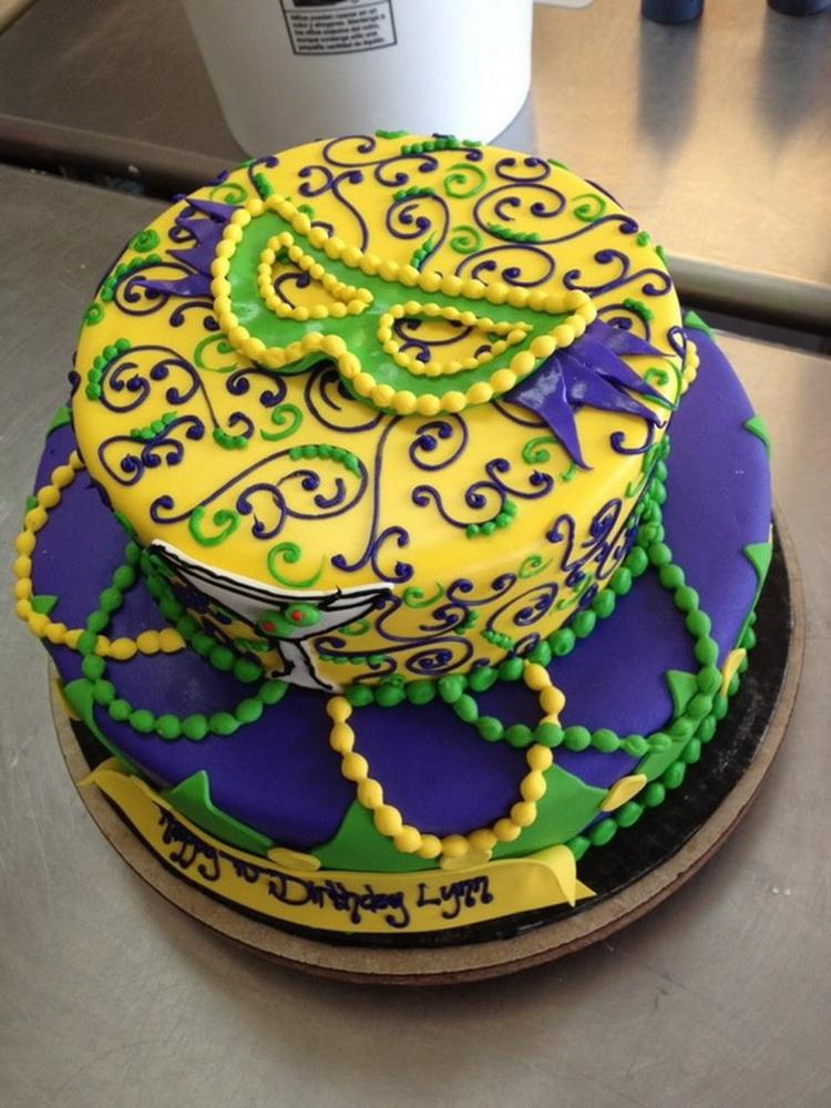Marvelous The King Cake Is A Vibrant Part Of The Mardi Gras New Orleans Funny Birthday Cards Online Alyptdamsfinfo