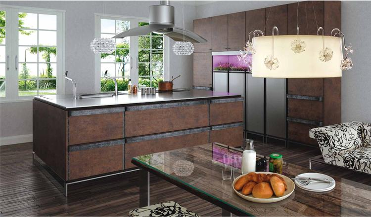 Keukeneiland T Opstelling : In deze opstelling van de ino keuken worden oud en nieuw