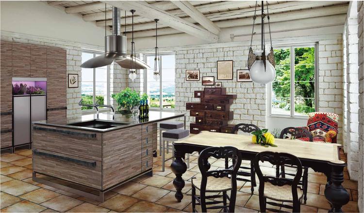 Een heerlijke warme keuken met veel landelijke accenten het grote