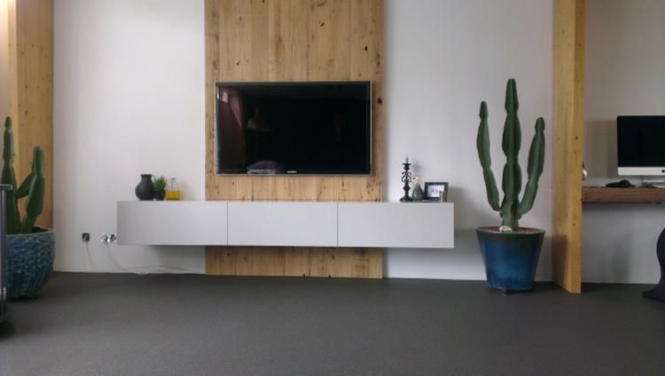 Televisie muur simple niche in de meubels en is geschikt voor