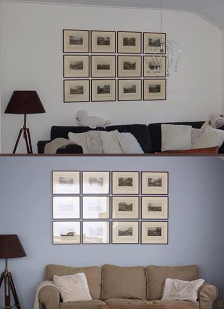 Onze woonkamer, muur is kleur blue grey nr 81 van painting the past ...