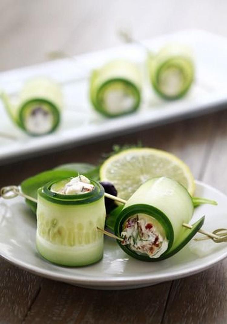 Geliefde Gezonde hapjes: komkommer feta rolletjes. Foto geplaatst door  WD27