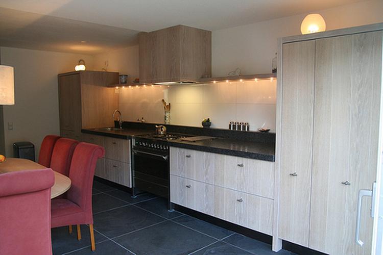 Keuken Van Antraciet : Eiken keuken antraciet vloer en blad foto geplaatst door mrloes