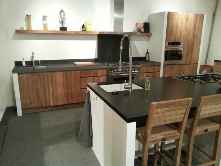 Keuken Industriele Smeg : Houten keuken vervaardigd uit teakhout zelf samen stellen en te