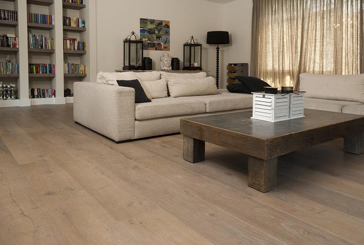 Wit Eiken Vloer : Eiken houten vloer dubbel gerookt wit geolied sortering natuur