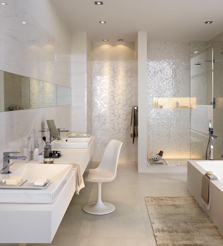 lichte badkamer mozaiek. Foto geplaatst door Dewie886 op Welke.nl