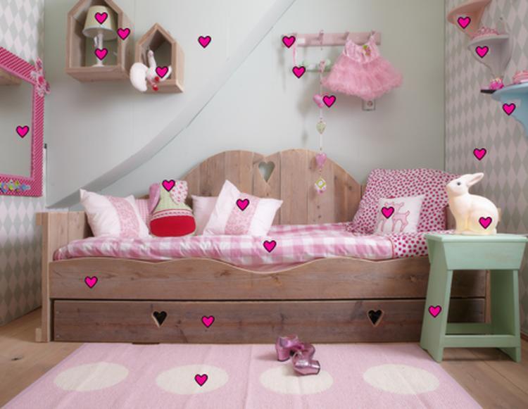 Meisjeskamer landelijke stijl