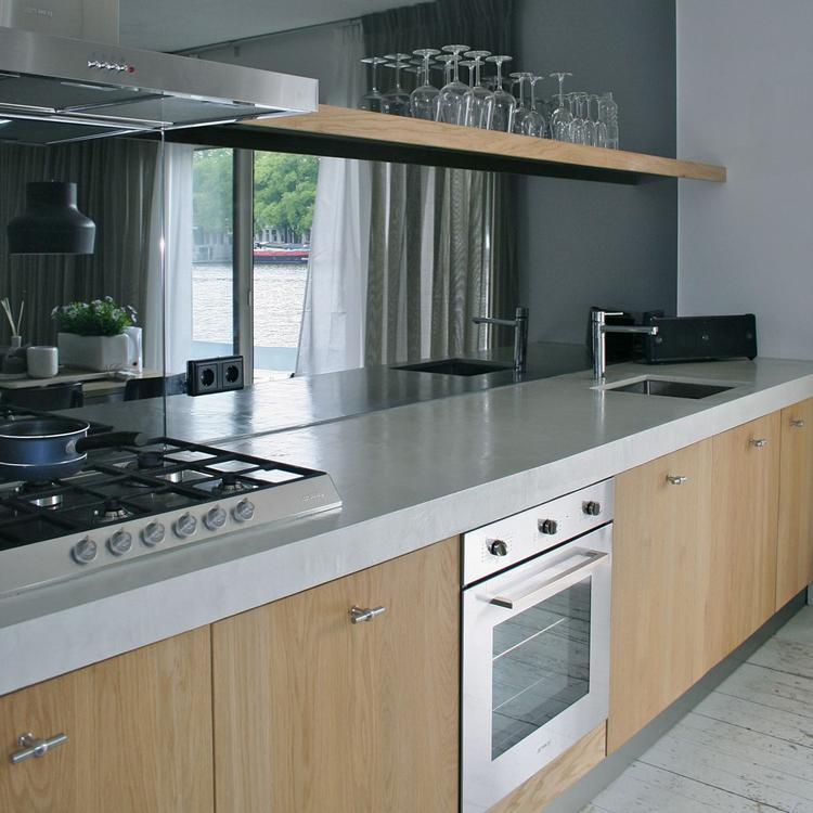 Magnifiek hout beton keuken. Foto geplaatst door Vlocke op Welke.nl #EF34