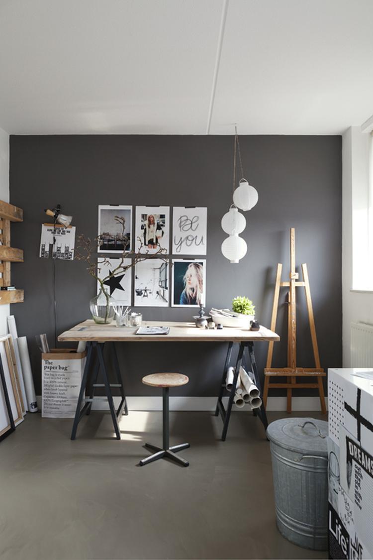 Bureau En Zo.Inspirerende Werkkamer Mooie Kleurencombinatie Leuk Zo N Bureau Op