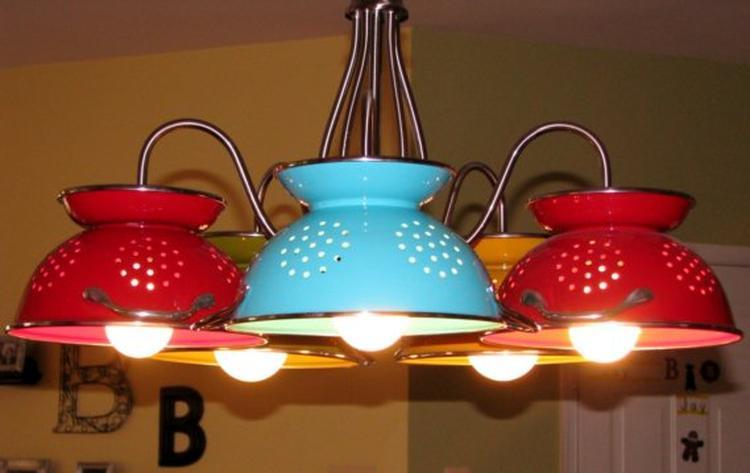 Hanglamp gemaakt van een oude kroonluchter. Leuke lamp voor een ...