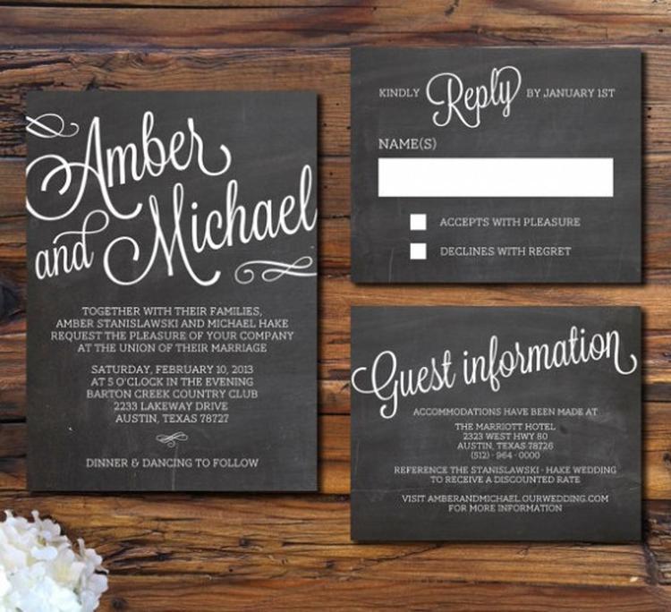 New Originele uitnodigingen voor een bruiloft of feest. Foto geplaatst &HS31