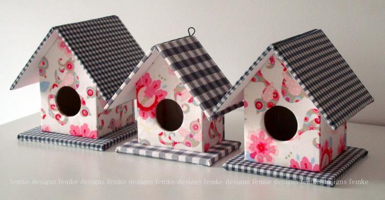 Kinderkamer Behang Vogelhuisjes : Vogelhuisjes zelf maken. kinderkamer.. foto geplaatst door