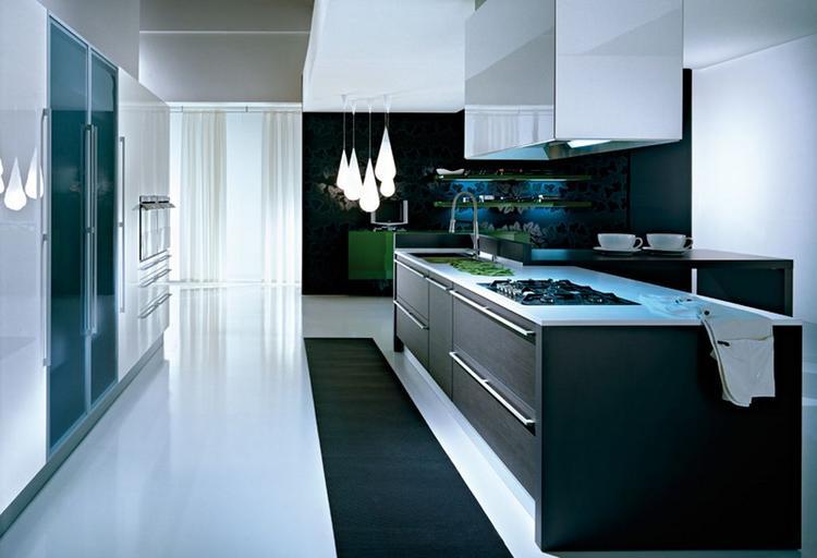 Mat zwart wit keuken. foto geplaatst door mbotman op welke.nl
