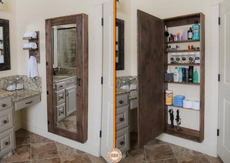 Badkamer opbergruimte met spiegel. Foto geplaatst door Angeel op ...