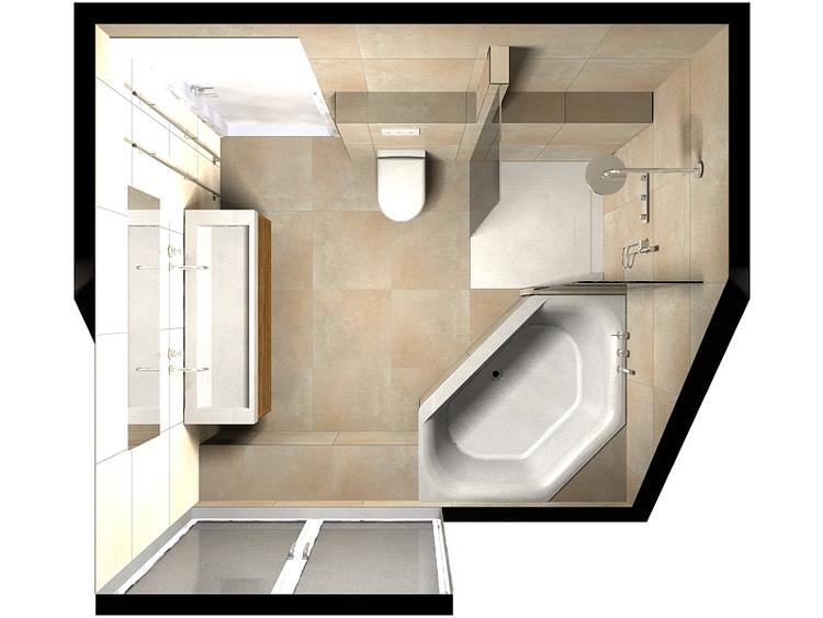De Eerste Kamer) Het wastafelblad en de douchevloer van deze ...
