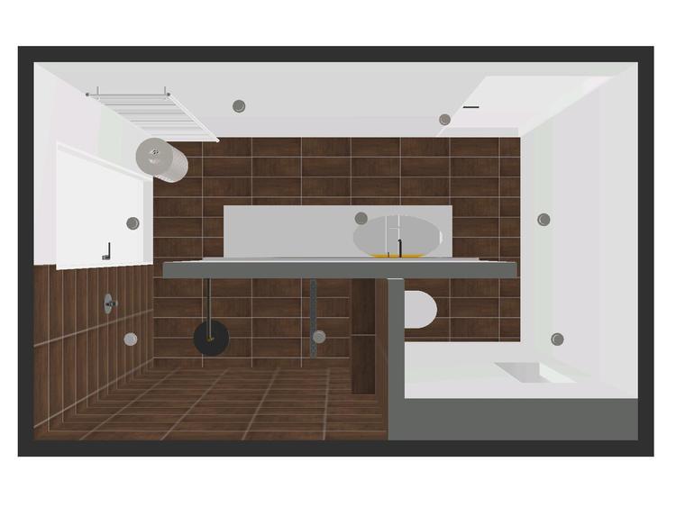 Ennovy badkamer ontwerp met mosa tegels en gestukadoorde wanden