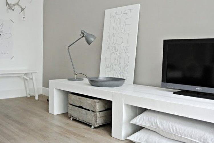 Meubels Wit Verven : Steigerhout wit verven trendy fabulous meer fotous with tafelblad
