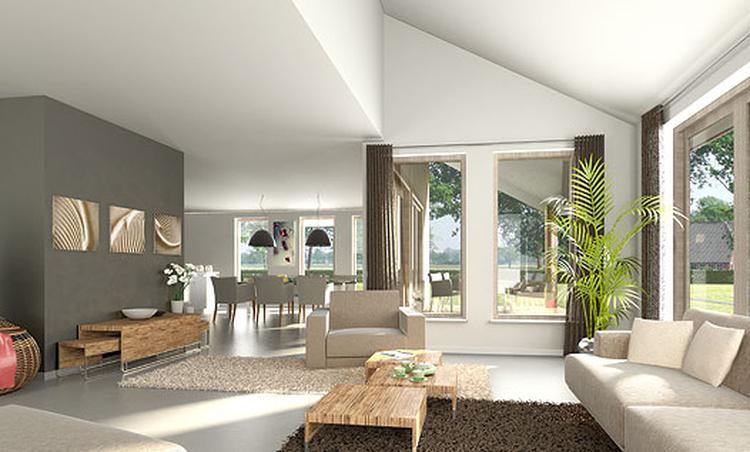 Moderne Woonkamer Inrichting : Een moderne woonkamer met eyecatcher fabulous grote eyecatchers