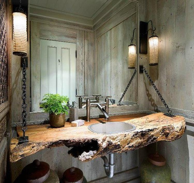 Een natuurlijke badkamer. Foto geplaatst door Robbert54 op Welke.nl