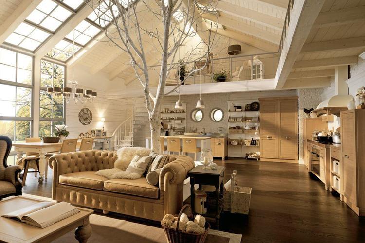 Lichte rustieke woonkamer met vide. Foto geplaatst door Robbert54 op ...