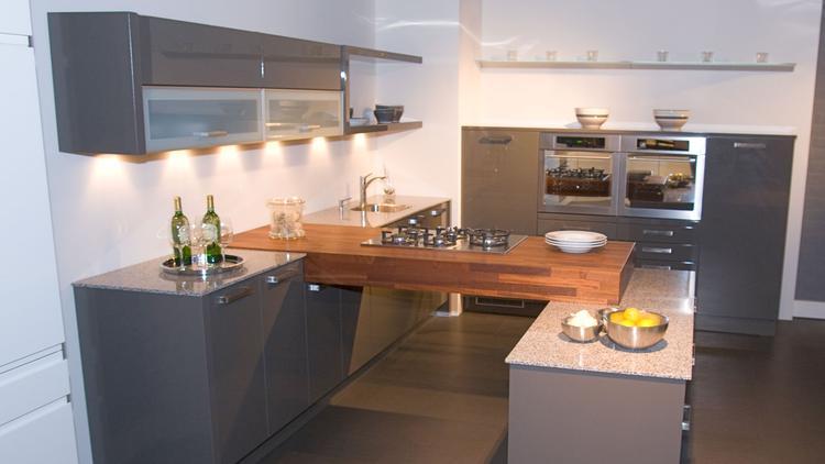 Eiland keuken hout - Centrale eiland houten keuken ...