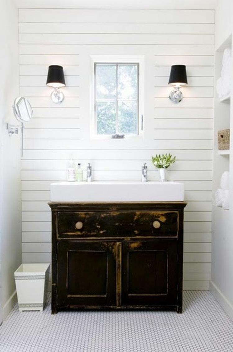 perfect leuk idee voor badkamer mooie oude onderkast. Black Bedroom Furniture Sets. Home Design Ideas