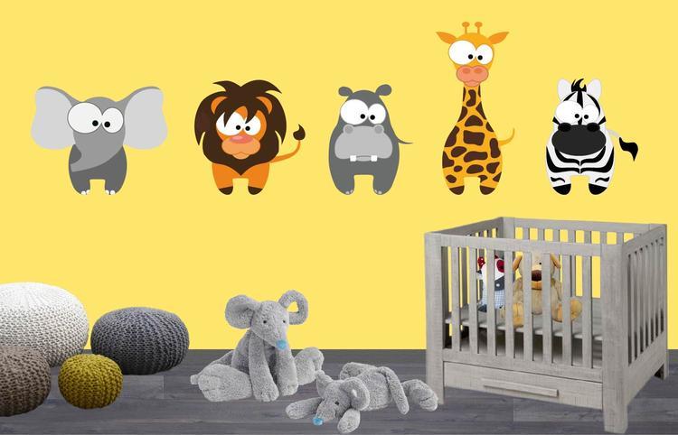 Muurstickers Kinderkamer Belgie.Muursticker Safari Dieren Leuk Voor Baby Of Kinderkamer Foto
