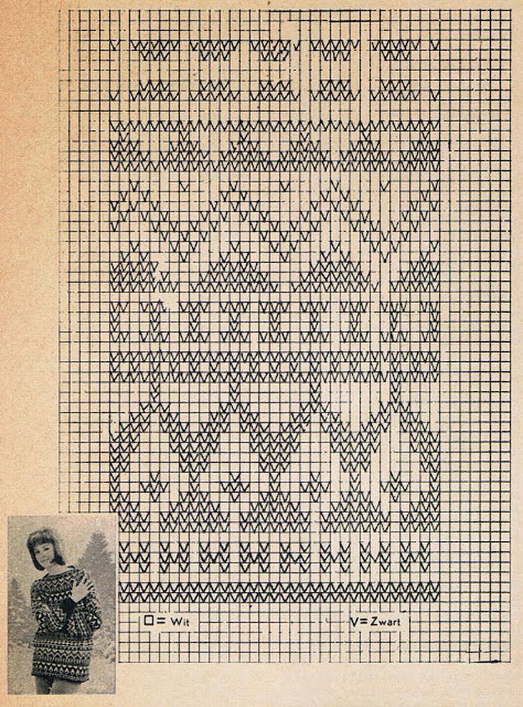 Prachtig Scandinavisch Patroon Voor Borduren En Breien Foto