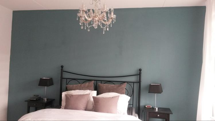 Slaapkamer Blauwe Muur : Muurverf blauw affordable flexa interieur kleur van het jaar