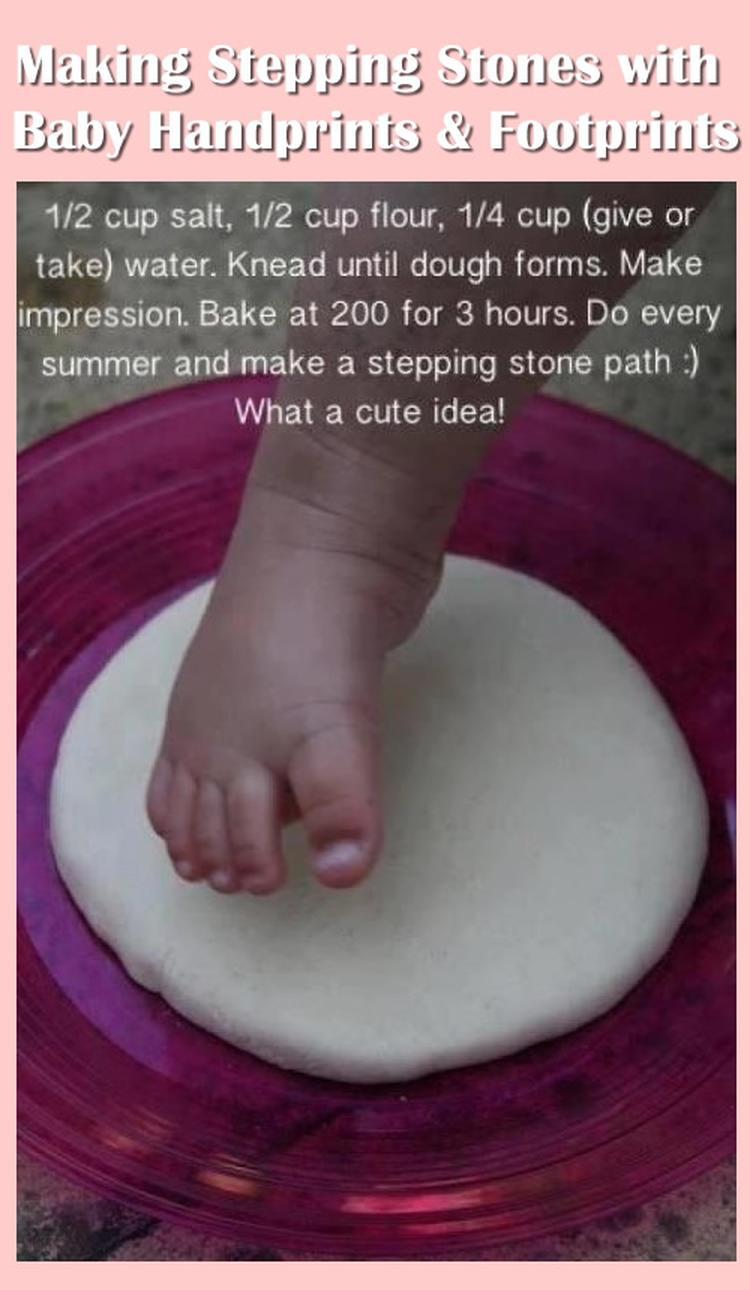 Het Maken Van Stapstenen Met Baby Handafdrukken Amp Voetafdrukken