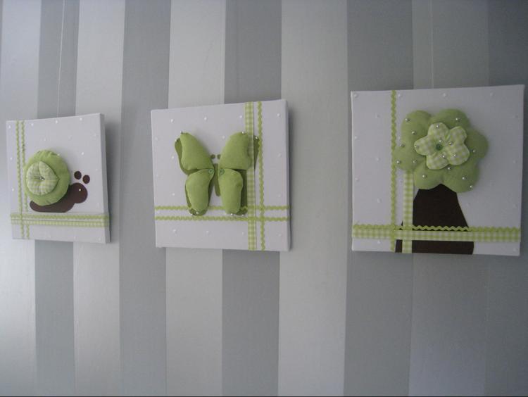 Gordijnen Kinderkamer Groen : Creatief idee voor schilderijtjes in de kinderkamer deze zijn