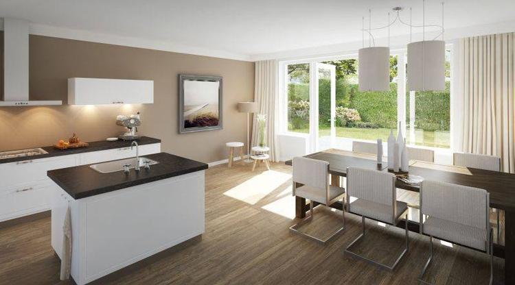 Gerookt eiken keuken for Interieur kleuren woonkamer