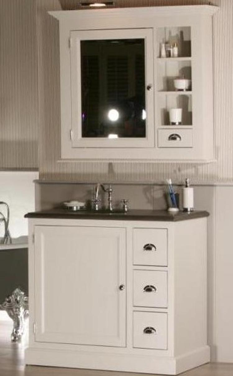 Badkamermeubel plank - Landelijke badkamer meubels ...