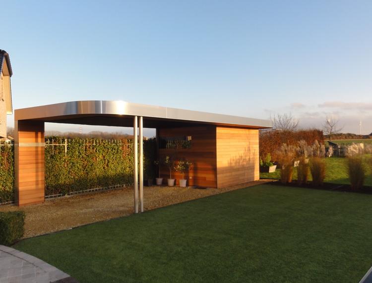Moderne Carport moderne carport met tuinhuis foto geplaatst door eddyc op welke nl