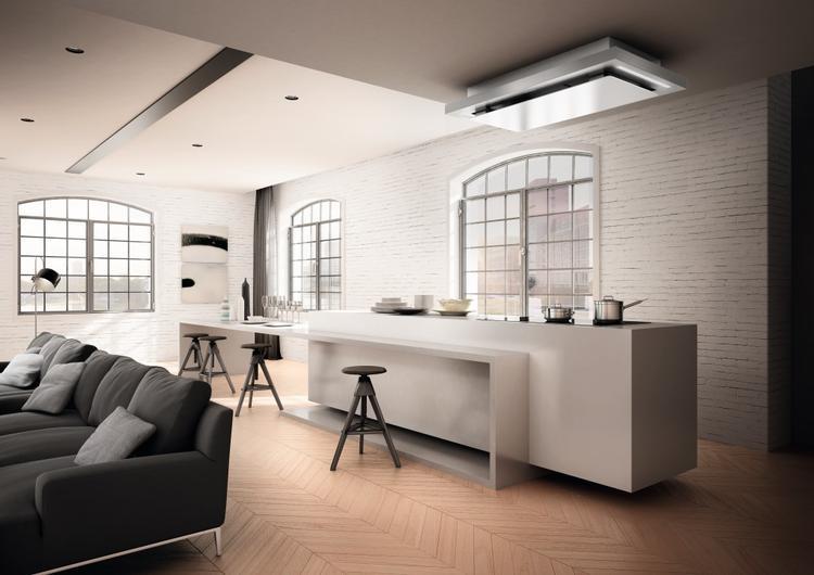 Afzuigkap In Plafond : Design onderbouw plafond afzuigkap skypad voorzien van touch en