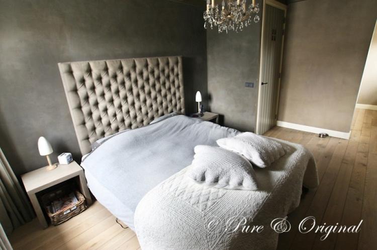 kleurinspiratie.nl betonlook slaapkamer, met natuurlijke tinten ...