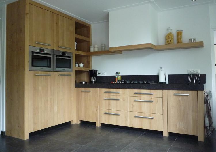 De Eikenhouten Keuken : Eiken keuken gezien bij en gemaakt door interieur makers