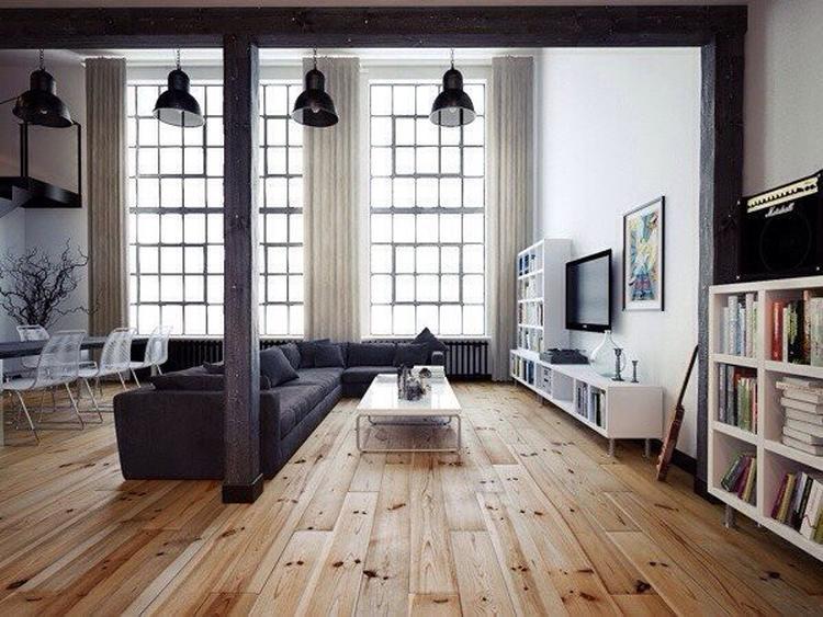 Loft stijl woonkamer. Foto geplaatst door jobic op Welke.nl