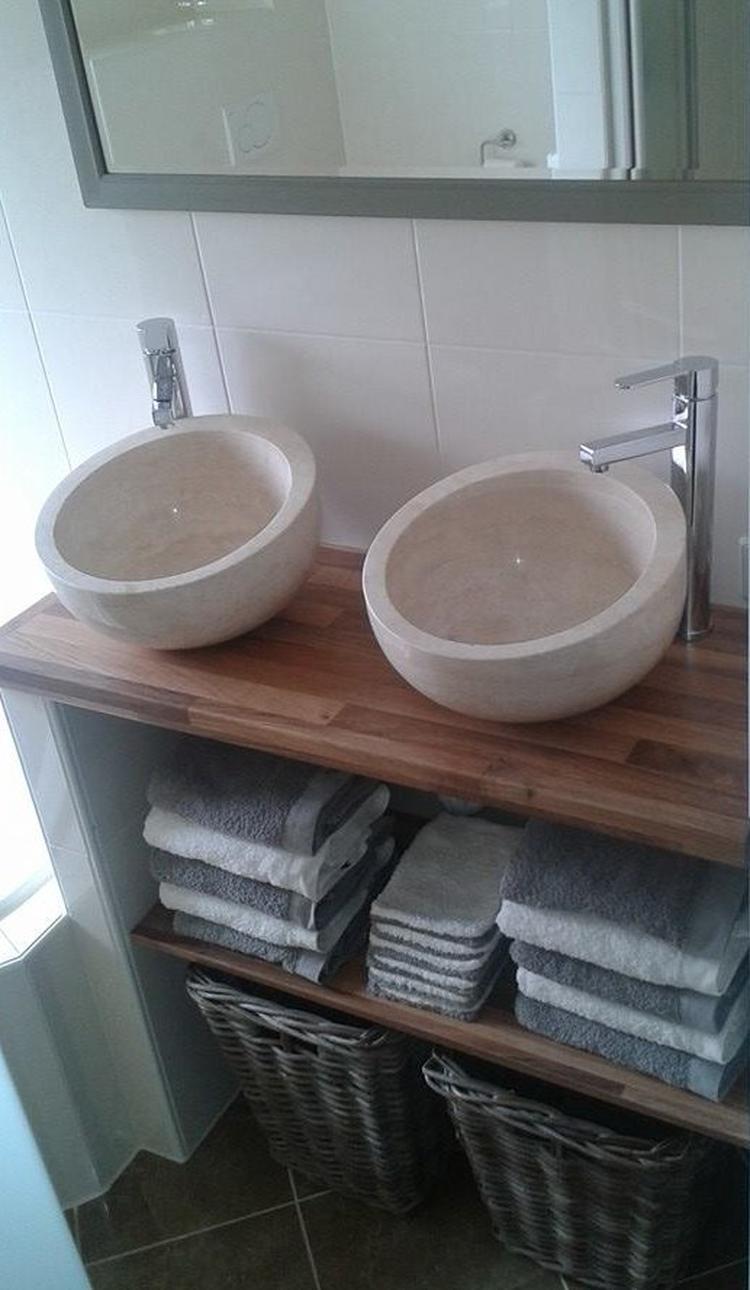 ik heb een kleine badkamer met weinig ruimte over voor een wasmeubel ...