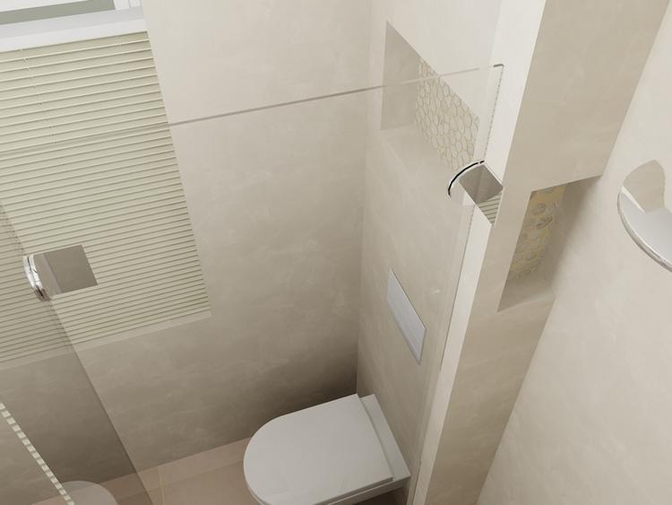 Hangend Toilet Plaatsen : Slim! handige nis voor shampoo e.d. door het plaatsen van een