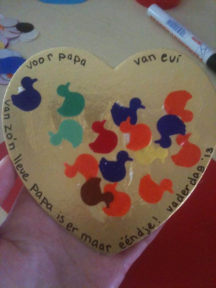 Populair Vaderdag peuter knutsel. Foto geplaatst door lieke1980 op Welke.nl #PO24