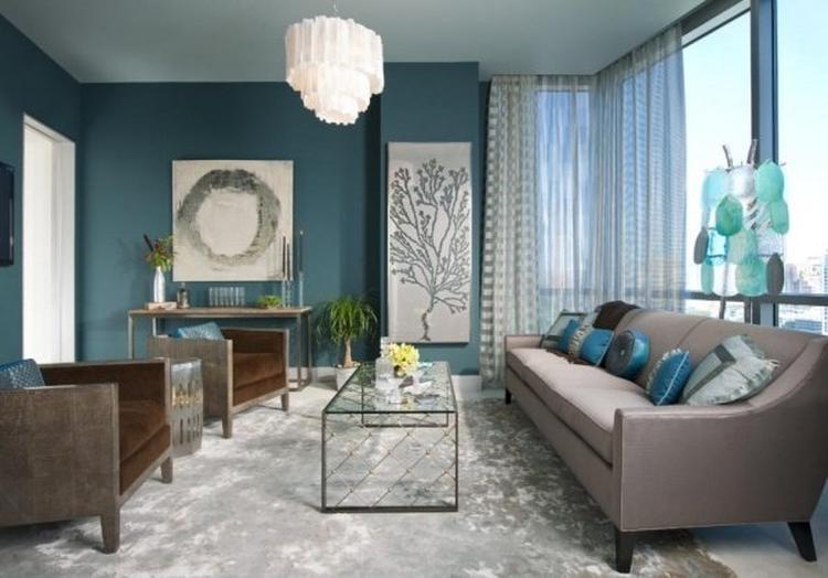 mooie woonkamer met blauwe tinten. Foto geplaatst door liepje op ...