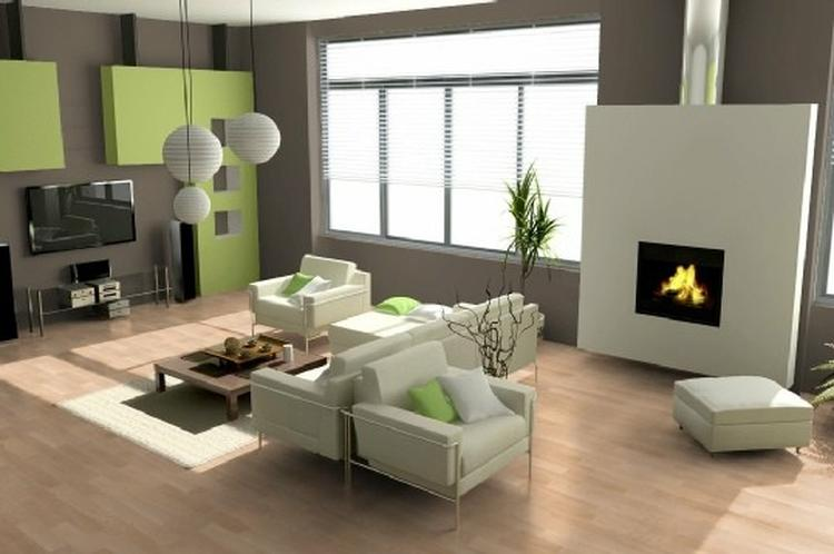 Welke kleur past bij groen for Welke nl woonkamer