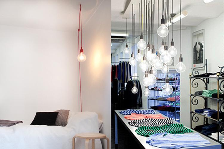 leuke simpele lampen boven de tafel foto geplaatst door stephie