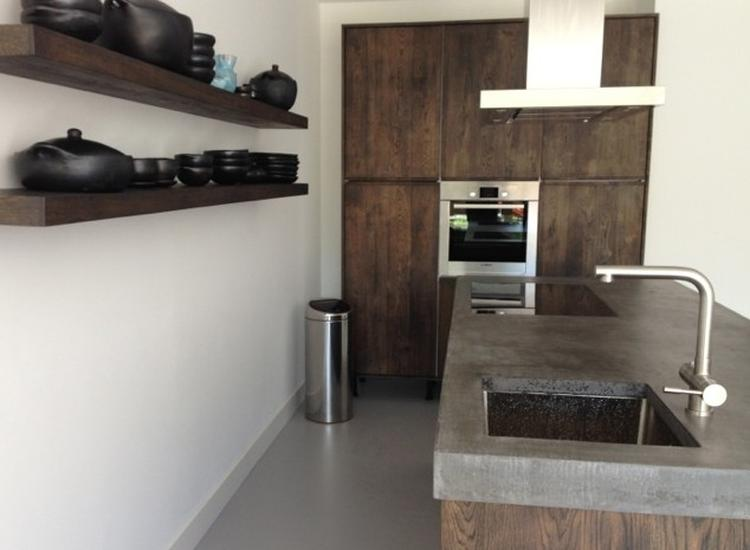 Ikea Houten Keuken : Donker gebeitste eiken houten keuken massief hout met ikea