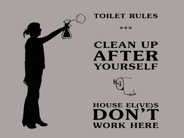 Grappige spreuk voor op het toilet! (met eigen silhouetje!). Foto ...