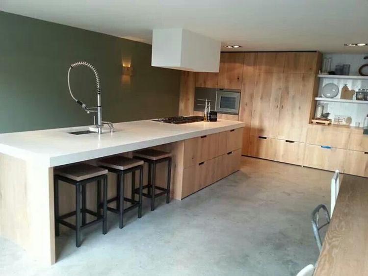 Keuken licht eiken - Keuken muur kleur idee ...